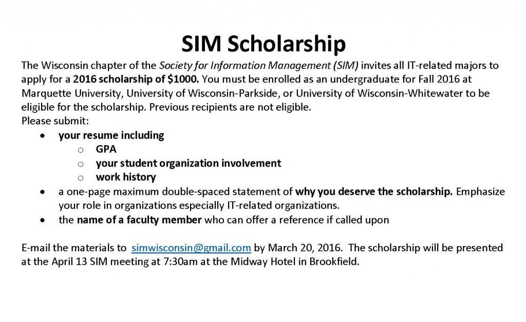 SIM Scholarship2016